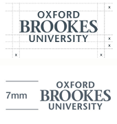 Example: logo spacing and size