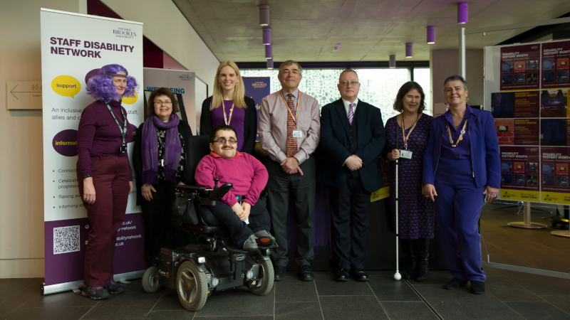Purple Light up 2 - Vice Chancellor and staff