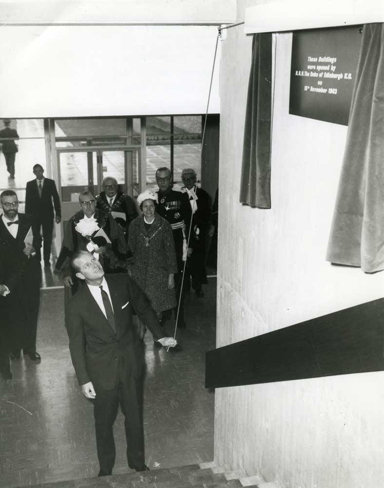 Prince Phillip opening what is now the Clerici building in 1963