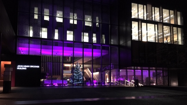 Purple Light up 1 - John Henry Brookes building