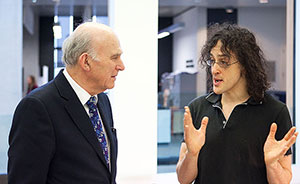 Vince Cable meets Professor Phil Torr