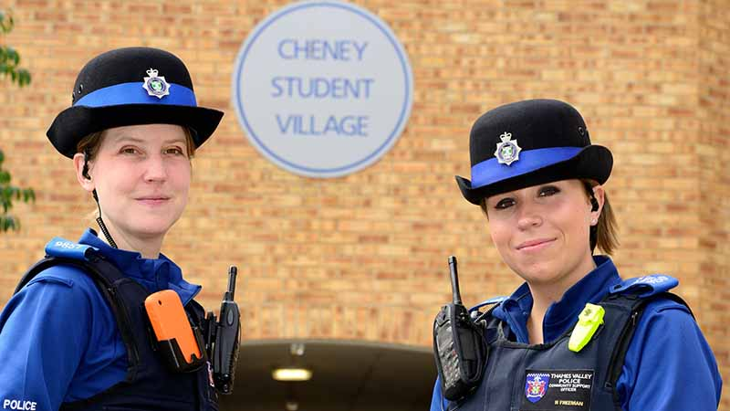 PCSOs Becky Freeman Frauke Eicker