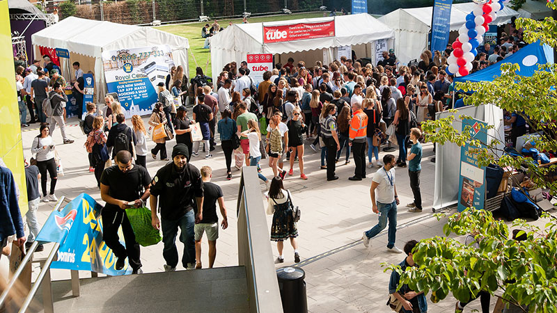 Fresher's Fair in the quad