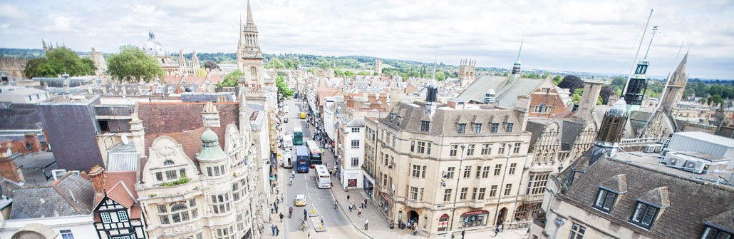Oxford - view from the top of Carfax tower