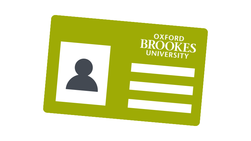 Brookes student card icon - lime