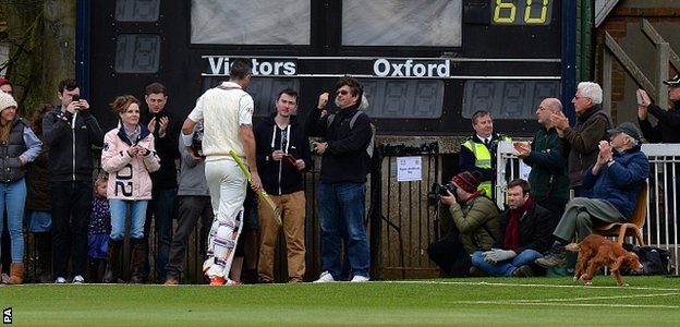 Kevin Pietersen walking off the cricket pitch