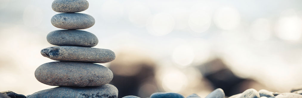 Wellbeing redesign homepage banner - stones