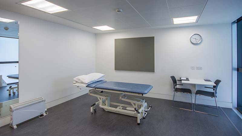 Health clinics treatment room
