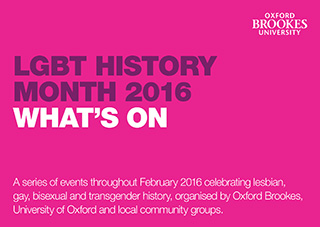 LGBT History Month Programme 2016