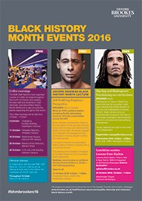 Download the Oxford Brookes Black History Month events flyer