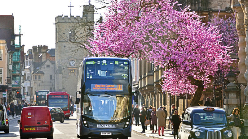 Brookes Bus in Oxford City