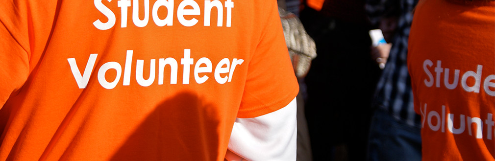 Make a difference - student volunteers