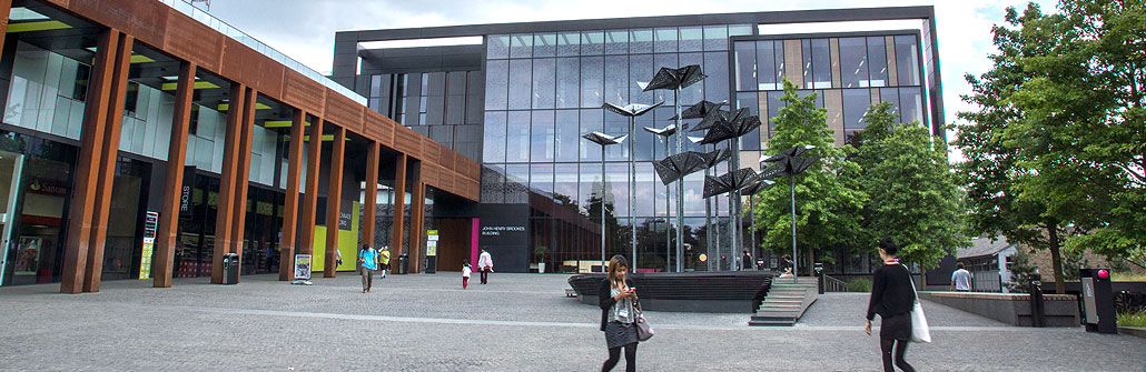 Community friendly campuses: the piazza outsite the John Henry Brookes Building