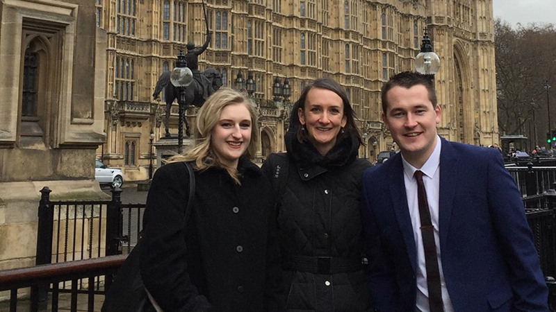 Get Published - Posters in Parliament - Hanna Rose (left), Dr_ Louise Bunce (centre), Max Jones (right)