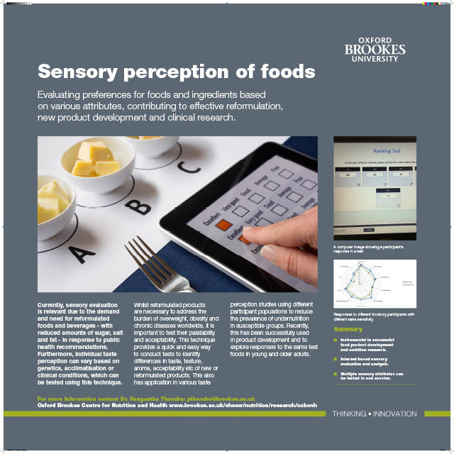 Sensory Perception of Foods PDF