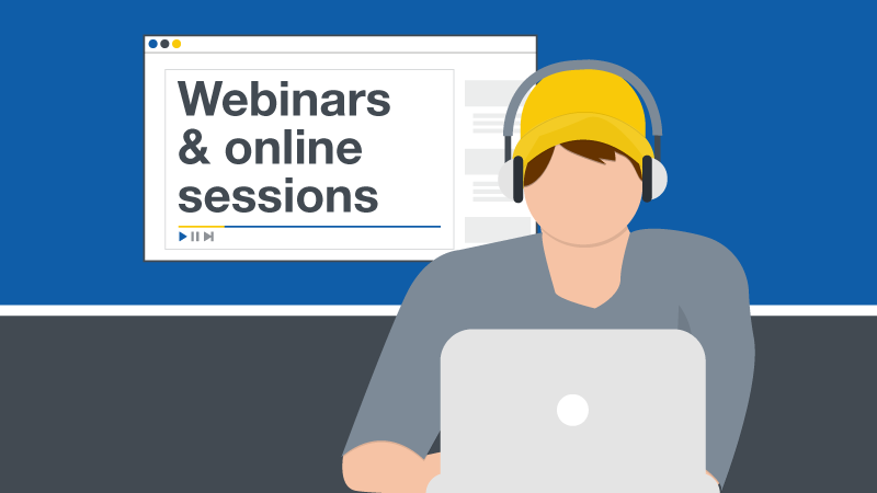 Webinars and online sessions