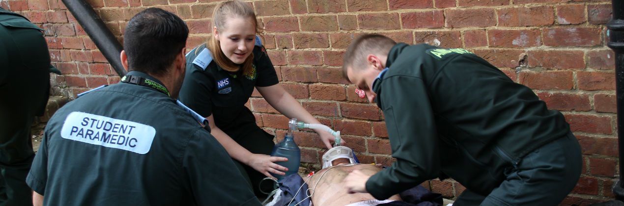 Paramedic students on placement
