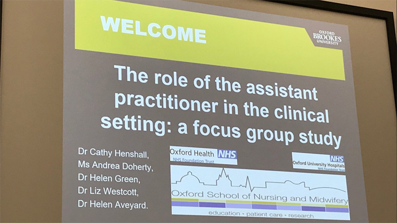 Brookes staff present study on assistant practitioner role