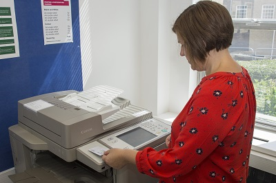 photocopier in use