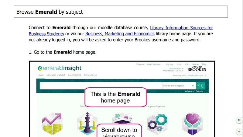 Emerald Basic Search