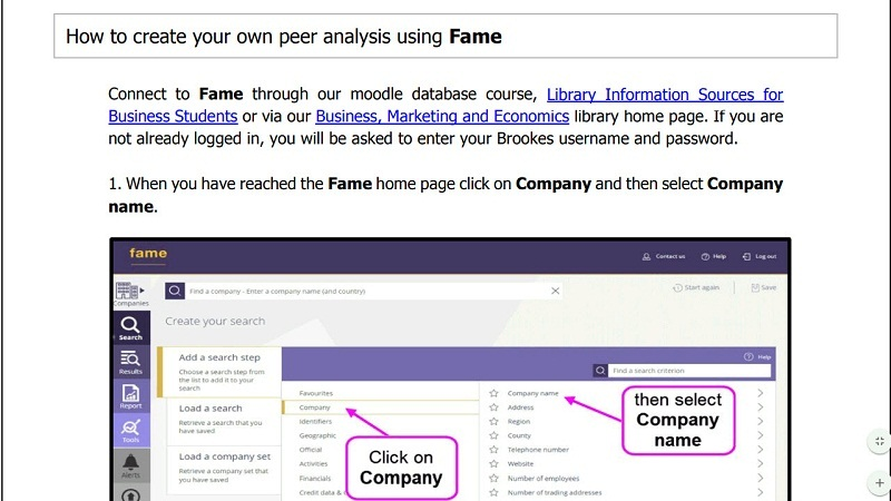 How to create your own peer analysis using Fame