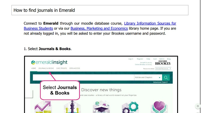 How to use Emerald - Oxford Brookes University