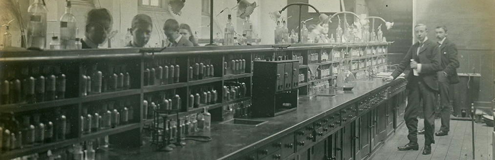 A historical photograph of a laboratory