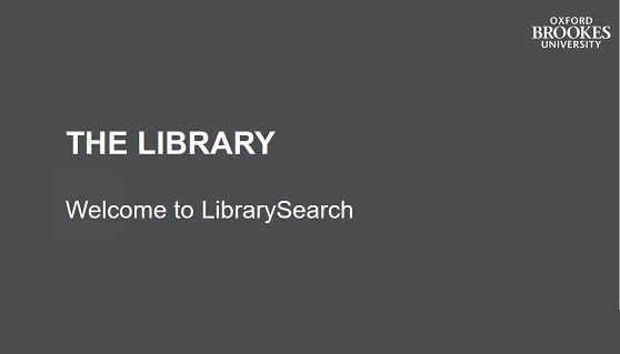 Welcome to LibrarySearch image