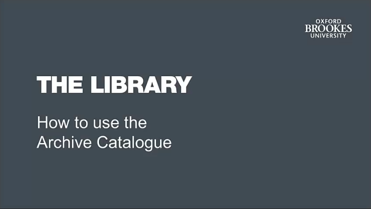 How to use the Archives Catalogue image