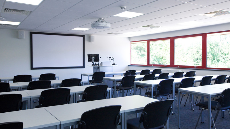 Classroom space showing SMARTboard