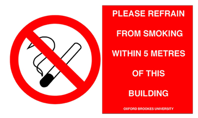 No smoking policy poster