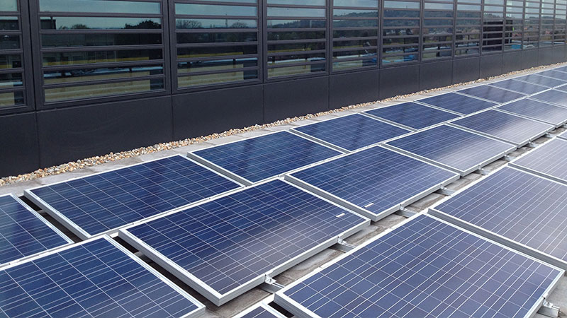 Oxford Brookes solar panels