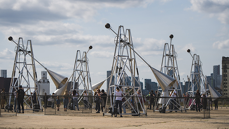 Ray Lee's kinetic sound sculptures