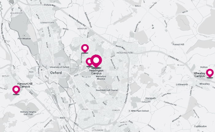 Oxford Brookes University map