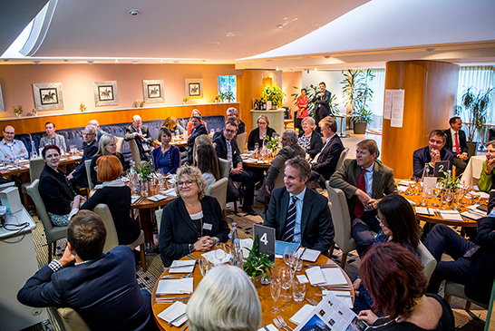 Large number of guests at a Brookes Restaurant private event