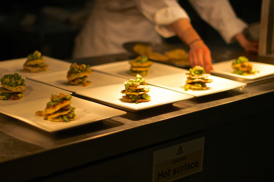 Student-led events, preparing food in the kitchen