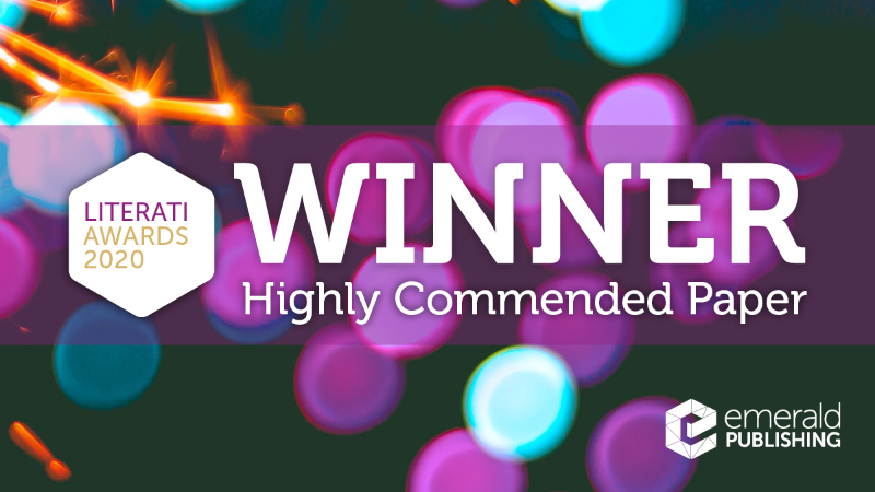 Dr Sara Le Roux co-authored paper won Highly Commended Paper Award