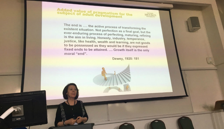 Professor Tatiana Bachkirova has given a keynote presentation at the 3rd Conference of the European Society for Research in Adult Development