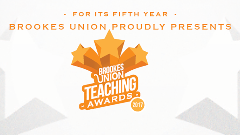 Faculty leads the way in Brookes Union Teaching Awards
