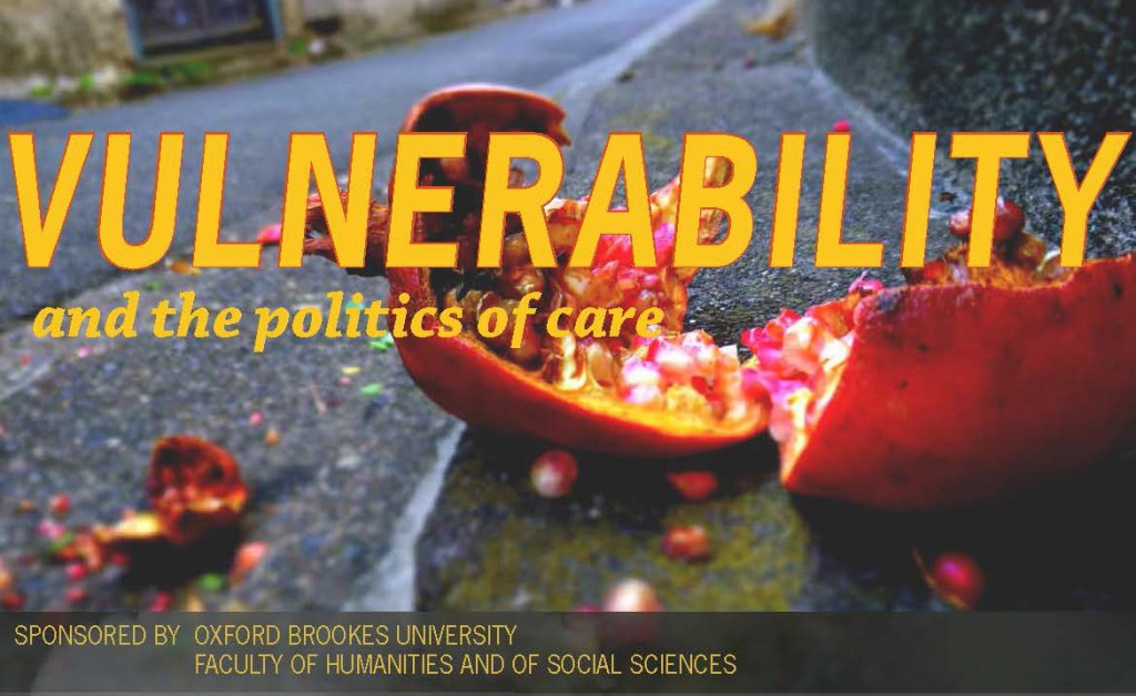 Oxford Brookes to host workshop on 'Vulnerability and the Politics of Care'