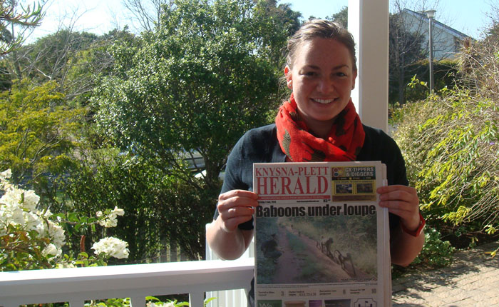 MSc Primate Conservation student publishes her research in local African newspaper