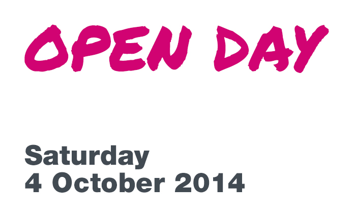 Undergraduate open day, Saturday 4 October 2014