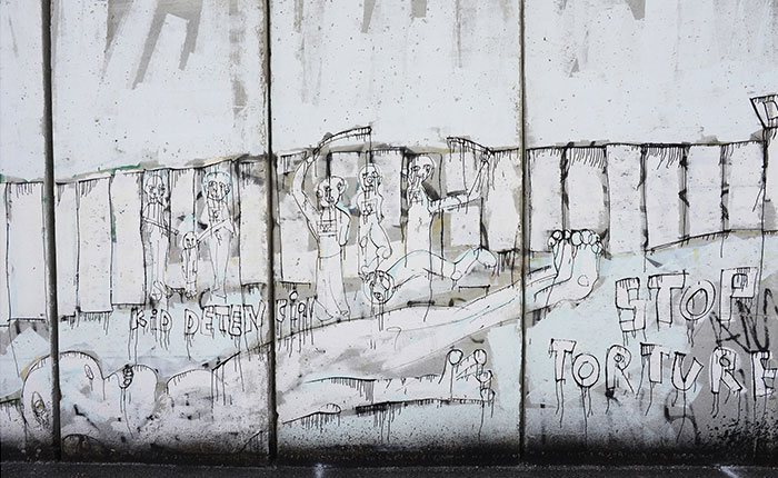 Anti torture mural in West Bank