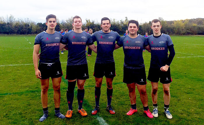 Brookes Bulls rugby players