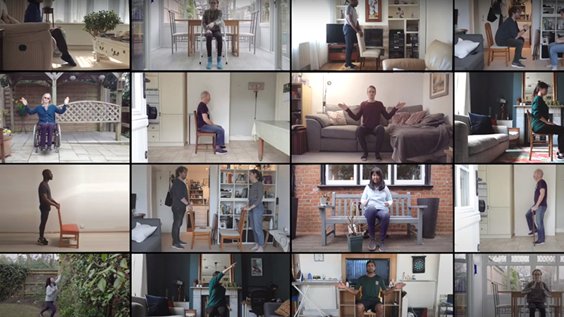 Chair-based exercise routine created to help people stay active and healthy during lockdown