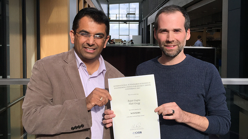 Low Carbon Building Group researchers win award for research on energy efficiency