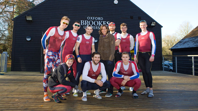 Chancellor Katherine Grainger watches Brookes Boat Club break records at Wallingford Head