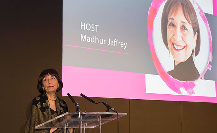 Renowned actor and food writer Madhur Jaffrey CBE hosted the event