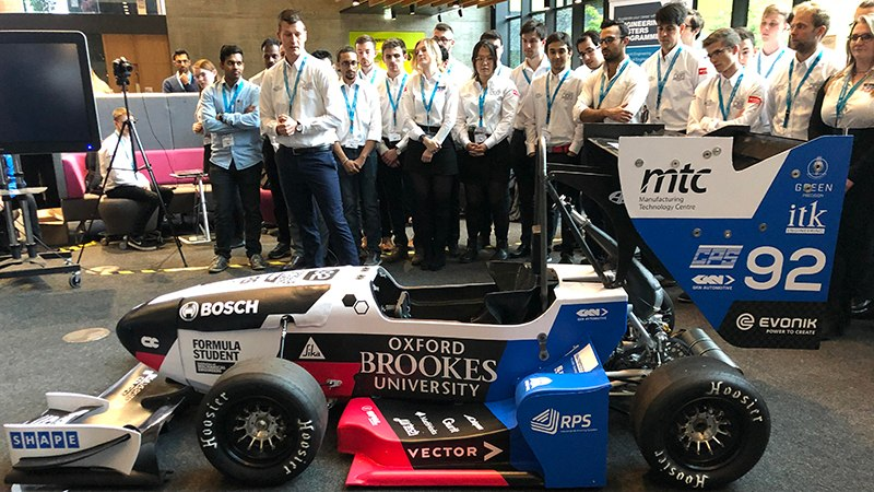 Oxford Brookes Racing unveils the 2019 Formula Student car enhanced with Virtual Reality
