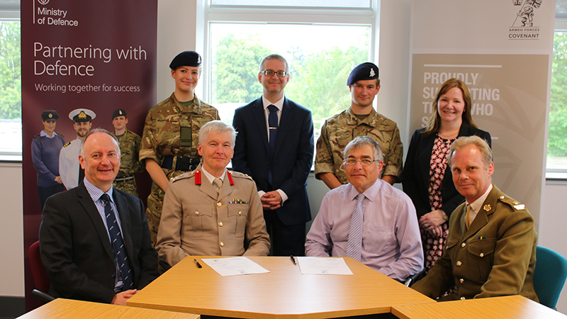 Oxford Brookes signs Armed Forces Covenant in support of reservist staff June 2018